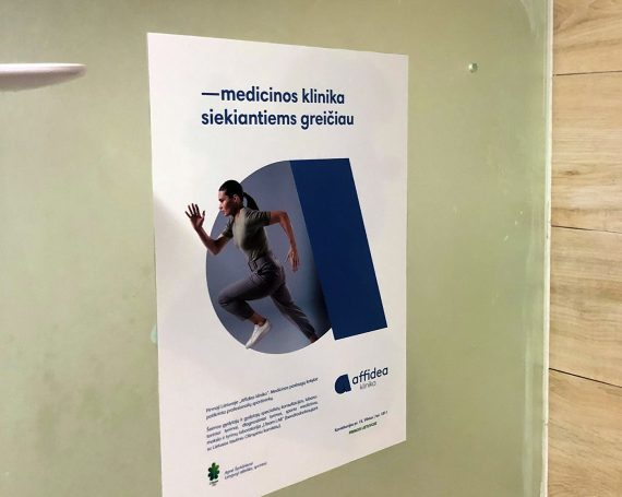 Affidea clients ad in gym clubs