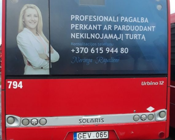 Capital clients ad on buses