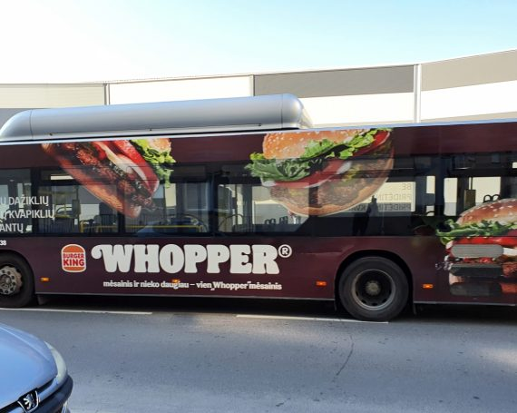 Burger King clients ad on buses